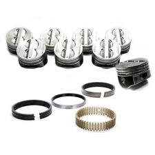 rings Speed Pro Chevy 350//5.7 Hyper.Coated Skirt Dish Pistons Set//8 020 9.0:1