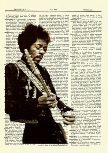 Jimi Hendrix Dictionary Art Print Poster Picture Book Rock Musician Collectible