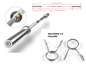 Olympic Straight Barbell 7ft Weight Lifting up to 300 kg