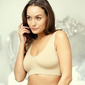aa63bf3ad2 Details about JML BELVIA COMFORTABLE WIRELESS SEAMLESS BRA SHAPES AND LIFTS