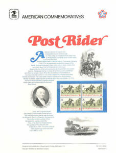 16-8c-Post-Rider-Stamp-1478-USPS-Commemorative-Stamp-Panel
