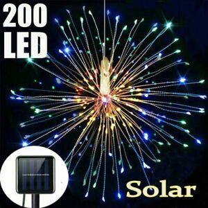 Solar-Fireworks-Light-String-LED-Copper-Starburst-Fairy-Xmas-Decor-200Leds-Lamp