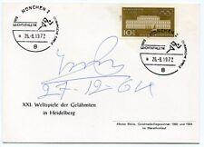 ABEBE BIKILA, orig. Autogramm, Ersttagsbrief Olympia 1972, FDC, signed autograph