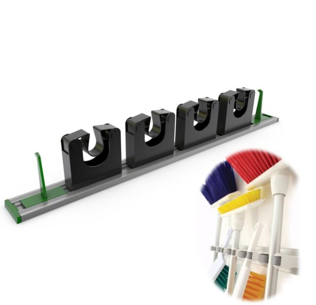 Aluminium Mop Broom And Tool Holder Wall Rack High Quality