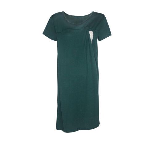 Umstandsmod Damen Mama Nachthemd Schwanger Krankenpflege Stillende Umstandskleid
