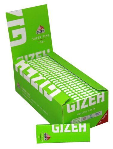 BOX DA 50 BLOCCHETTI DA 50 CARTINE CORTE. GIZEH CARTINA CORTA VERDE SUPER FINE