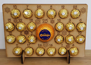 WOODEN-ADVENT-CALENDAR-CHRISTMAS-GIFT-FITS-24-FERRERO-ROCHER-amp-CHOCOLATE-ORANGE