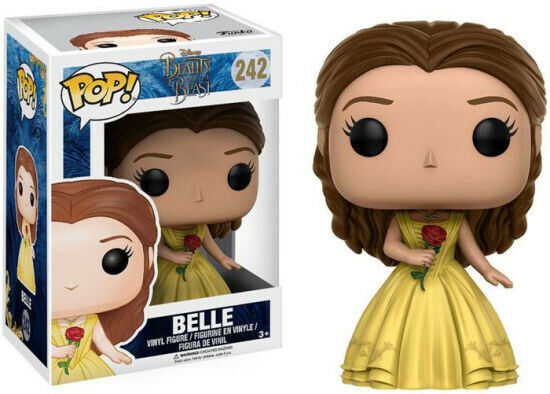 Pop Disney 3.75 Inch Action Figure Beauty And The Beast - Belle With Rose #242