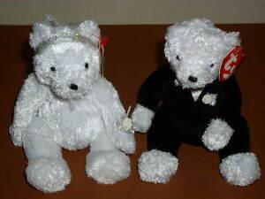6c6d342ba59 Image is loading Ty-Beanie-Baby-BRIDE-amp-GROOM-Bears-Wedding-