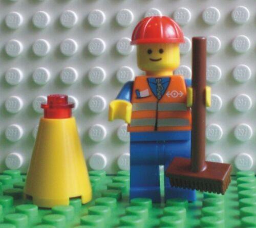9247-11 700 NUOVO LEGO MINI PERSONAGGIO urbana con scopa e cono dei trasporti