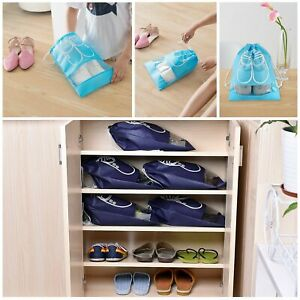 5Pack Travel Shoe Bags Dustproof Drawstring Portable Travel Dustproof shoe  US