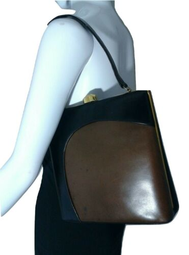 Vintage Leon Handbag Purse Blackamp;taupe Of Block California Color Clutch thQdsBCrxo