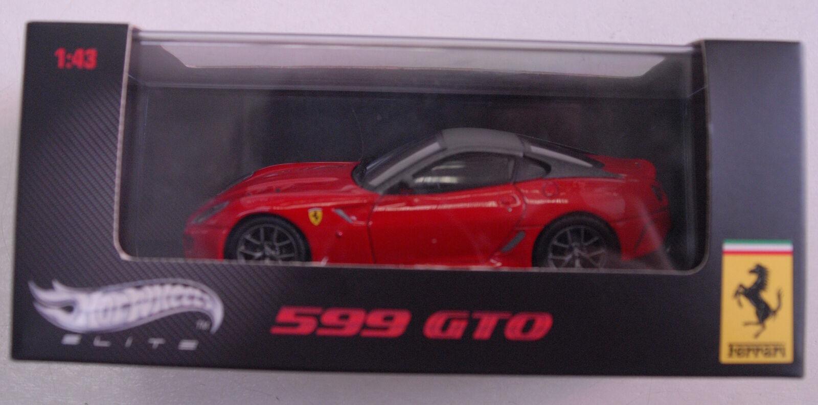 Ferrari 599gto rossa Scala 1 43 Mattel T6267 Edizione limitata