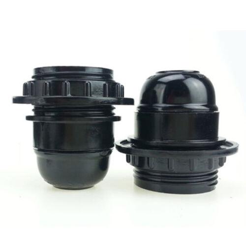 Screw E27 Light Bulb Lamp Holder Base Pendant Socket Black White UK stock