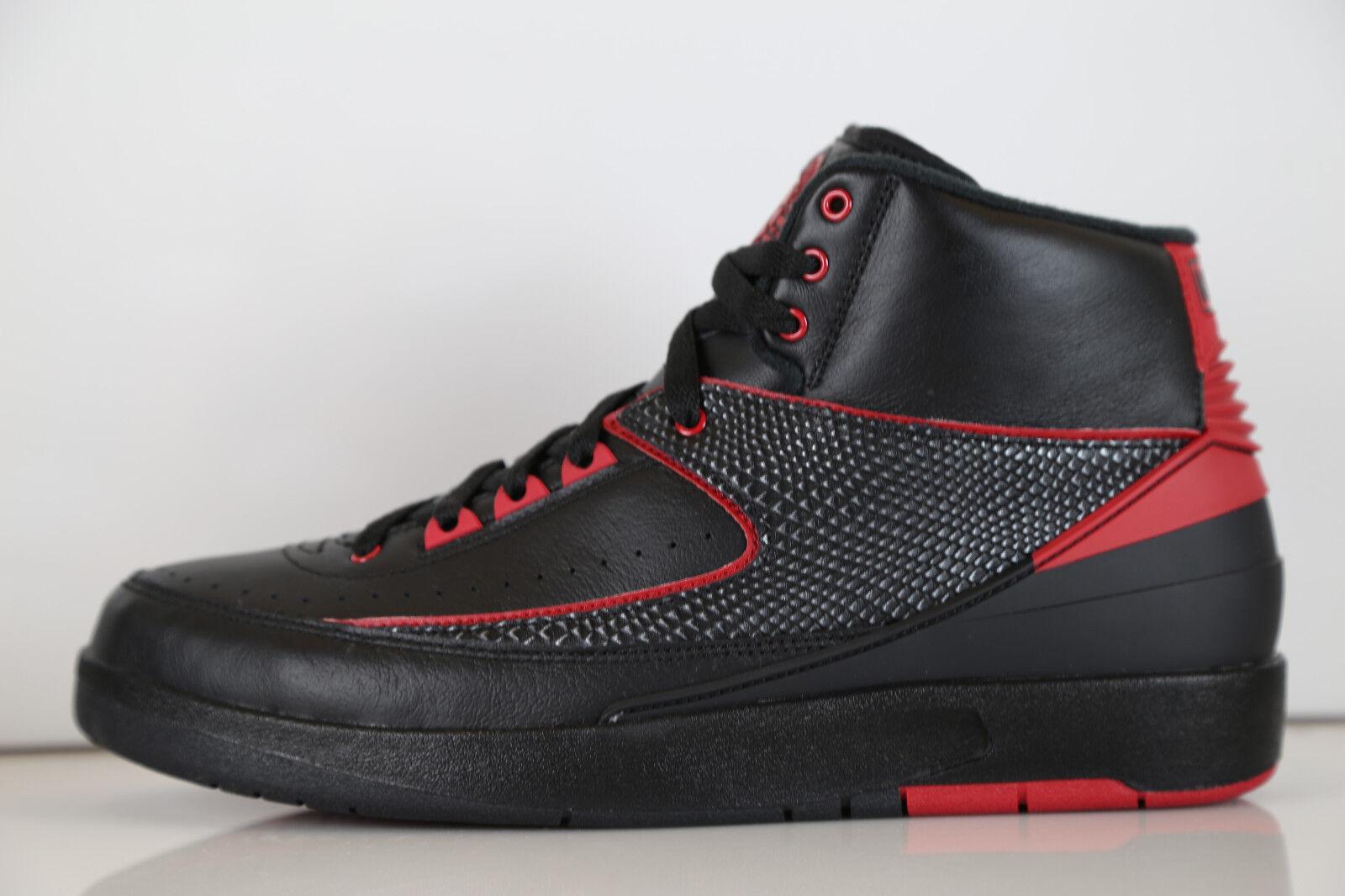 Nike Air Jordan Retro 2 Alternate 87 Black Red 834274-001 7-14 1 bred 11 3 8 9