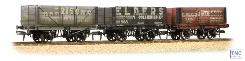 377-097 Graham Farish N Coal Trader Pack 7 Plank Private Owner Wagons Weathe rojo