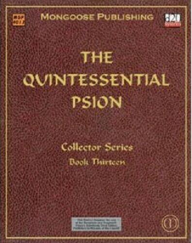 THE QUINTESSENTIAL PSION - COLLECTORS SERIES BOOK THIRTEEN - D20 - MGP4013