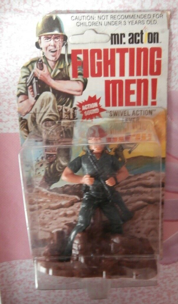 Fighting men  - MR. ACTION -  SWIVEL ACTION  LEVER - LJN TOYS - 1975 - SOLDATINO