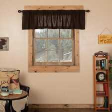 Burlap Chocolate Valance 16x72 6149 By Vhc Brands For Sale Online Ebay