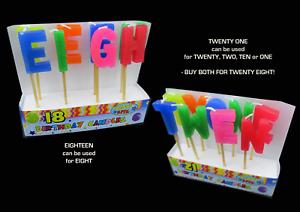 Image Is Loading Birthday Cake Candles Twenty One Or Eighteen