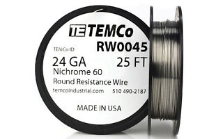TEMCo-Nichrome-60-series-wire-24-Gauge-25-Ft-Resistance-AWG-ga