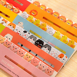 120-Page-Animal-Sticker-Marker-Bookmark-Memo-Flags-Sticky-Notes