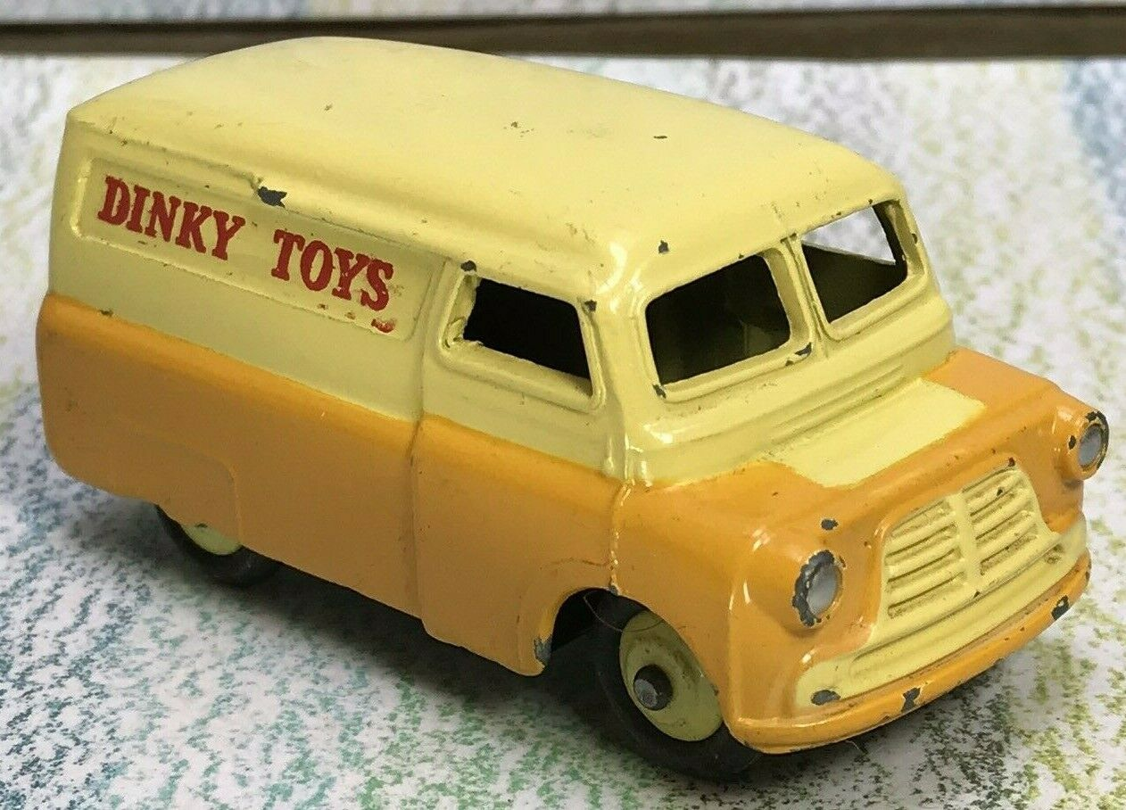 Dinky Toys  482 Bedford Van two-tone jaune  Orange Near Mint  dessins exclusifs