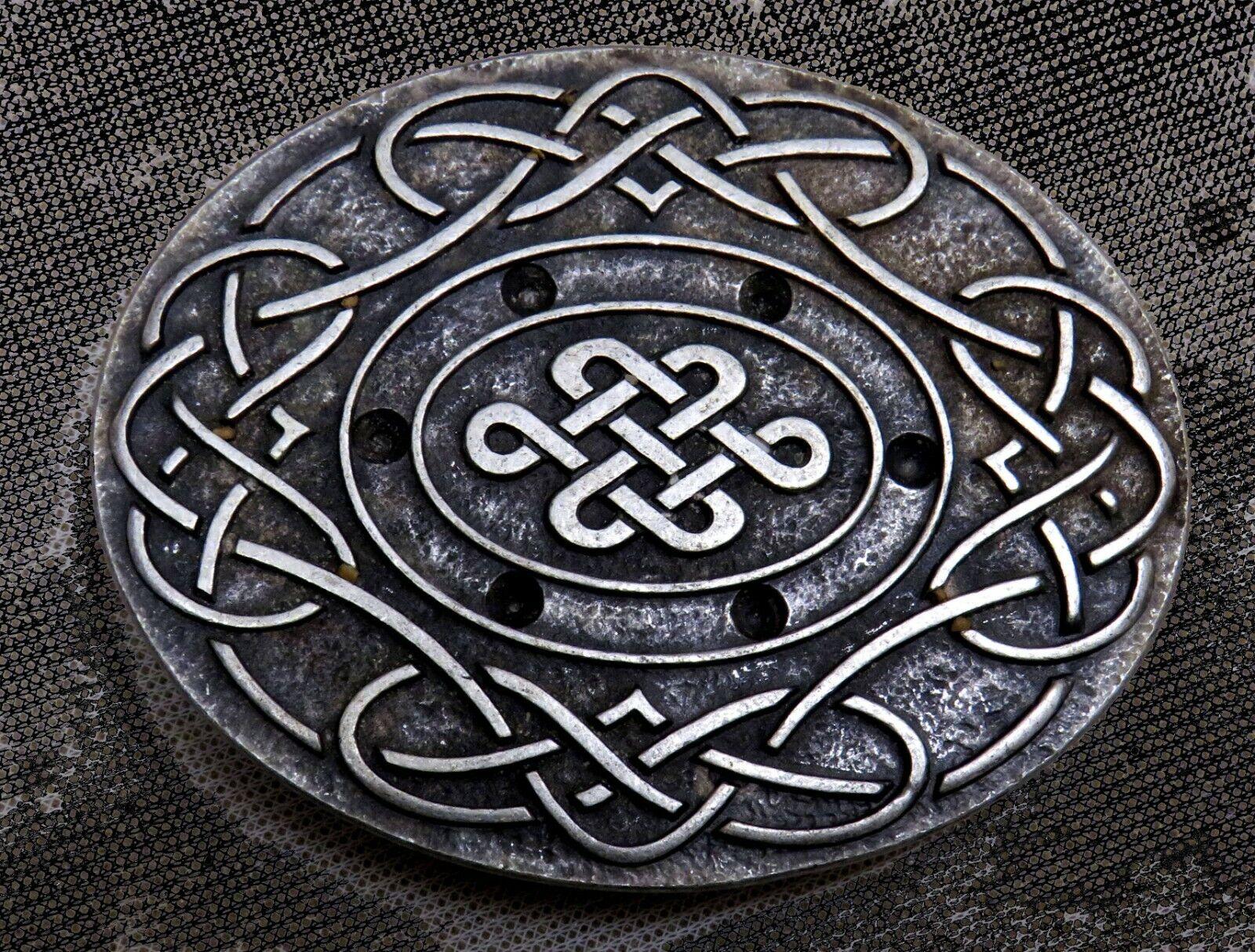 Gürtelschnalle f. 4cm breite GÜRTEL Metall NEU Celtic MITTELALTER Stabil TOP 1A#