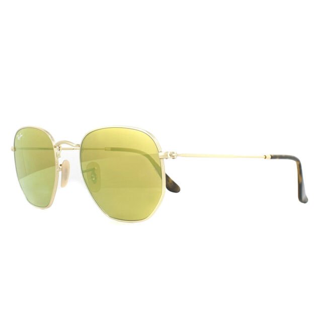 374c9bc6b8 Ray-Ban Unisex Rb3548n 001 93 Hexagonal Yellow Flash 54 Mm Gold Metal  Sunglasses