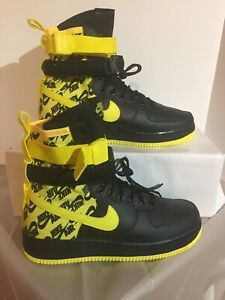 Nike Air Force 1 AF1 SF High Dynamic Yellow Black Men's Size