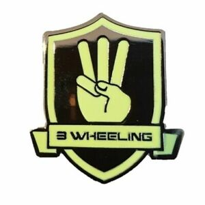3-Wheeling-Official-Pin-Badge-3-Wheeling-Sidecar-Racing-Official-merchandise
