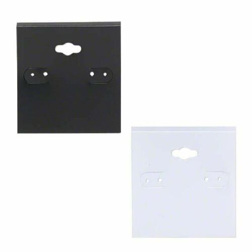 4 Plastic 2 inch PVC Hanging Earring Card Displays with Flip Tab for Hoops
