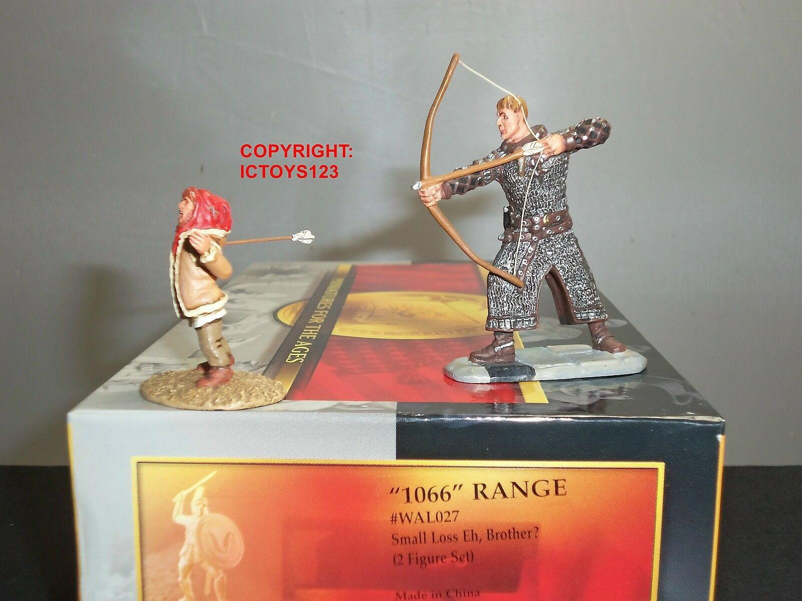 CONTE WAL027 WARLORD NORMAN ARCHER SMALL LOSS EH BredHER TOY SOLDIER FIGURE SET