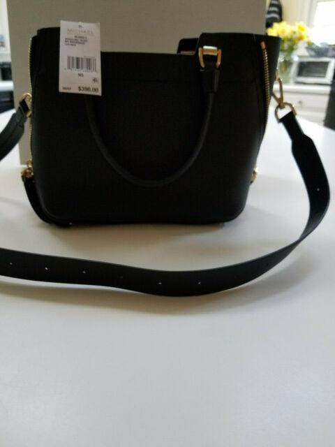 60dcc8382601 Michael Kors Blakely Leather Satchel Medium Messenger Bag Purse Black