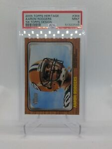 2005-Topps-Aaron-Rodgers-Rookie-Card-RC-PSA-9-MINT-Card-344A-GOAT-MVP