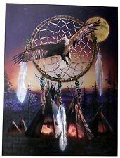 Alubild Alu-Bild : Dreamcatcher Traumfänger m. Adler Eagle Indianerdorf #2641