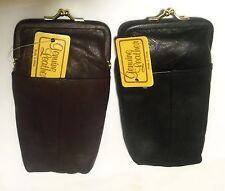 2 Leather Cigarette Cases(1 Black + 1 Assorted Color of Your Choice*) Kings/100s
