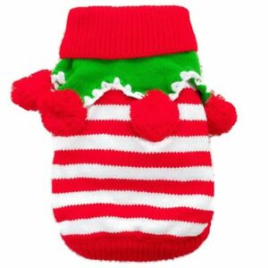 Small-Dog-Puppy-Sweater-Warm-Clothes-Pet-Costume-Coat-Apparel-New-XMAS-THEME