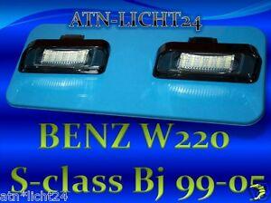 LED-Kennzeichenbeleuchtung-Kenzeichen-Modul-Mercedes-W220-CL-W215-S-Klasse-A590