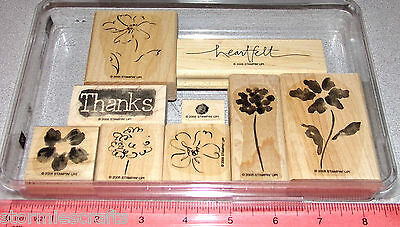 Stampin Up Heartfelt Thanks Stamp Set Flowers Floral Blossoms Two step Stamping
