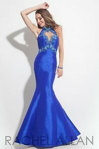 NWT-Size-0-Royal-blue-Rachel-Allan-7144-long-jeweled-formal-PROM-gown