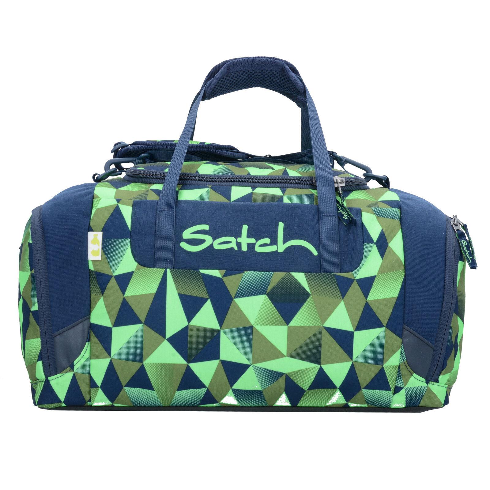 Satch Duffle Bag Sports Bag 44 cm (blue green polygon fresh crush)