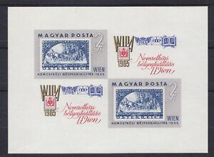 Ungarn-1965-Mi-Block-47B-034-Ausstellung-WIPA-65-034-postfrisch