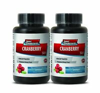 Cranberry Concentrated Extract 50:1. Healthy Urinary Tract Bladder (2 Bottles)