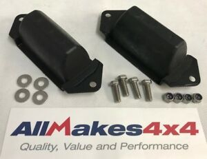 Allmakes-OE-Land-Rover-Disco-1-Defender-Rear-Axle-Bump-Stops-x-2-SS-Bolts-amp-Nuts