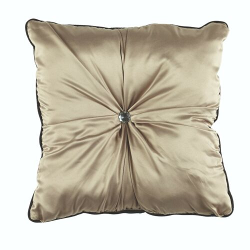 Juliette Taupe Quilt Duvet Cover set by BiancaLavish satin fabric in taupe