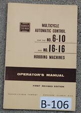Barber Colman 6 10 Amp 16 16 Operations Manual