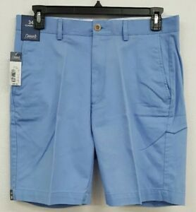 Roundtree-amp-Yorke-Casuals-Light-Blue-Flat-Front-Men-039-s-Shorts-NWT-35-Choose-Size