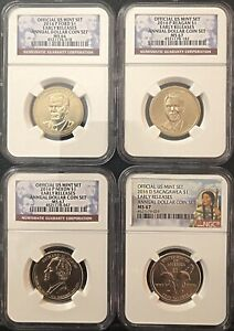 2016-ANNUAL-DOLLAR-COIN-SET-4-COINS-As-Pictured-Silver-Eagle-Not-Included