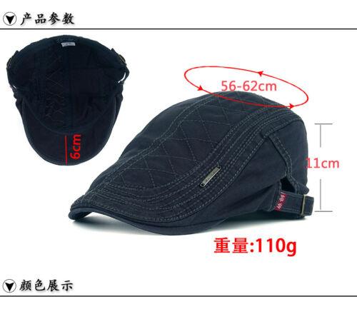 1PCS Mens Leisure Cotton Beret Peaked Cap Hat